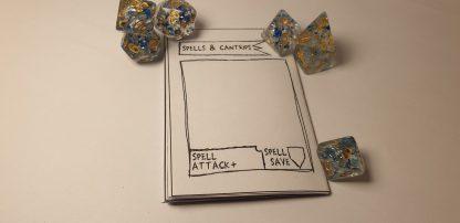 Character sheet mini booklet