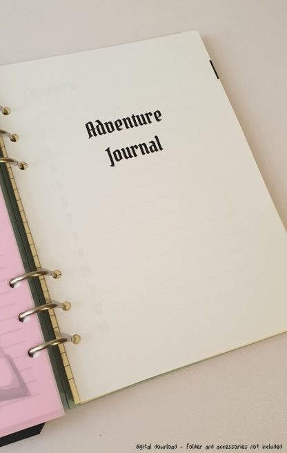 Dungeons and Dragons campaign journal and notebook