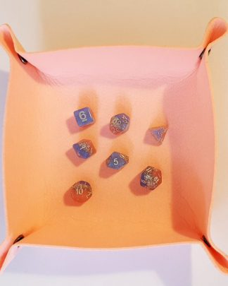 Pink dice rolling tray