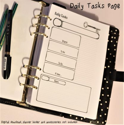 Dungeons and Dragons style diary planner