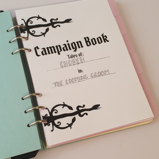 Dungeons and Dragons campaign notebook and journal